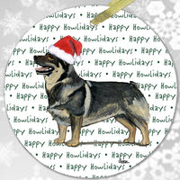 "Swedish Vallhund ""Happy Howlidays"" Ornament"