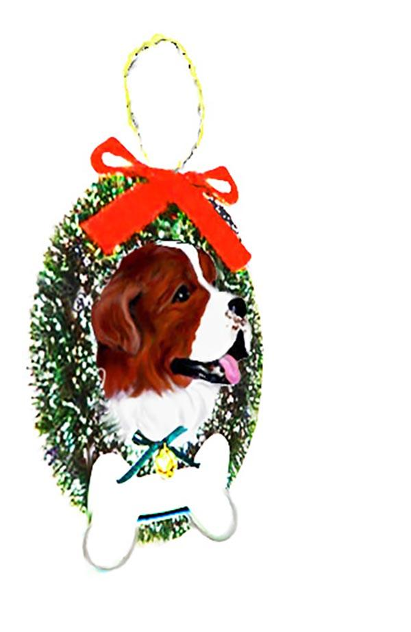 Saint Bernard Wreath and Bone Ornament