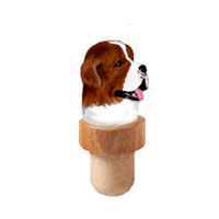 Saint Bernard Head Cork Bottle Stopper