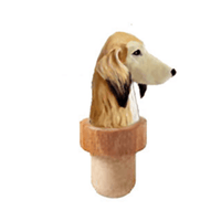 Saluki Head Cork Bottle Stopper