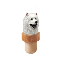 Samoyed Head Cork Bottle Stopper