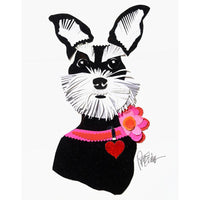 Reed Evins Schnauzer Dog Collage
