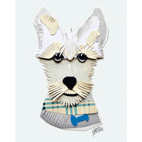 Reed Evins Scottish Terrier Dog Collage