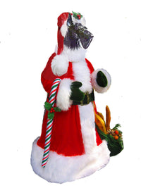 Scottish Terrier Santa Statue