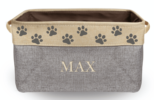 Personalized Collapsible Dog Storage Bin