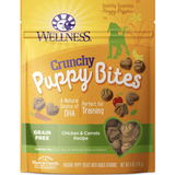Wellness Grain-Free Crunchy Puppy Bites Chicken & Carrots Recipe Dog Treats, 6-oz bag