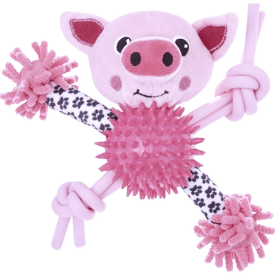 Frisco Puppy Lil' Romps Knotty Piggy Dog Toy
