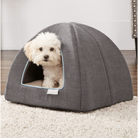 Frisco Igloo Covered Dog Bed, Gray