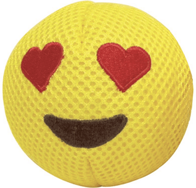 fouFIT Love Emoji Squeaky Plush Dog Toy