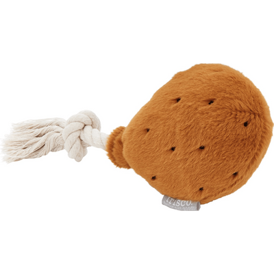 Frisco Plush with Rope Squeaking Chicken Wing Dog Toy