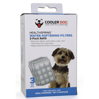 Healthspring Pet Fountain Water Softener Filters, 3-Pack