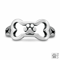 Paws Off My Bone Ring