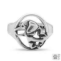 Labrador Retriever, Head, Sterling Silver Ring