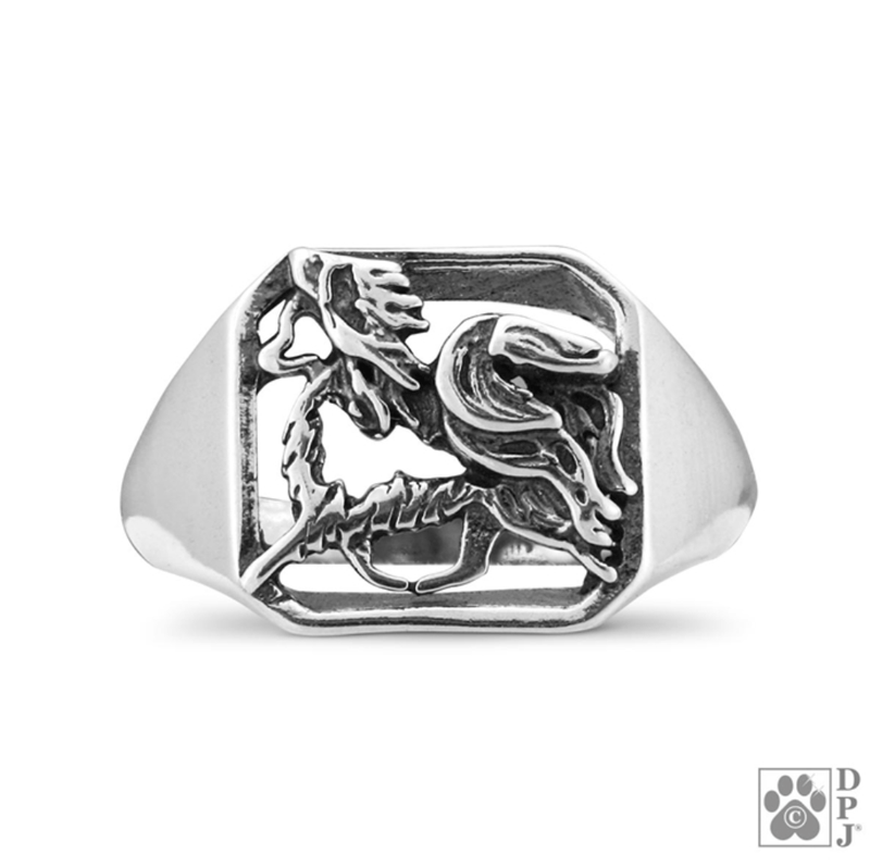 Papillon, Gaiting Body, Sterling Silver Ring