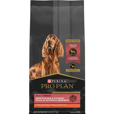 Purina Pro Plan Adult Sensitive Skin & Stomach Salmon & Rice Formula Dry Dog Food