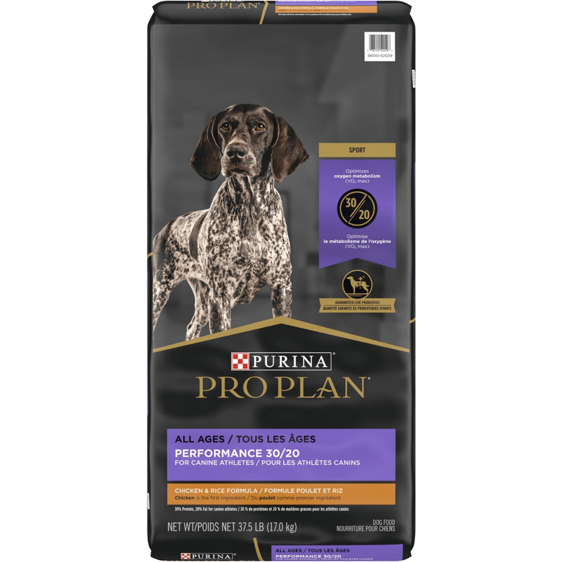 Purina Pro Plan All Life Stages Performance 30/20 Chicken & Rice Formula Dry Dog Food