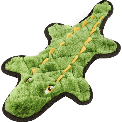 Frisco Flat Plush Squeaking Alligator Dog Toy, Medium