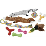 Frisco Rope, Plush, and TPR Dog Toy Bundle, 10 pack