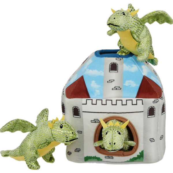 Frisco Mythical Mates Hide and Seek Plush Castle Puzzle Dog Toy