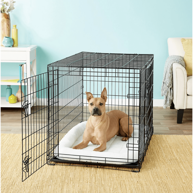 Frisco Fold & Carry Double Door Collapsible Wire Dog Crate