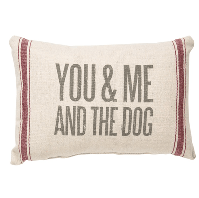 """You, Me & The Dog"" Throw Pillow"
