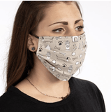 Reversible Dog Motif Face Mask