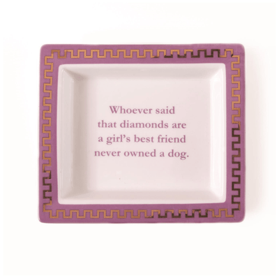 """Girl's Best Friend"" Tray in Gift Box"