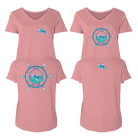 Seas The Day - Ladies Curvy V-Neck Tee
