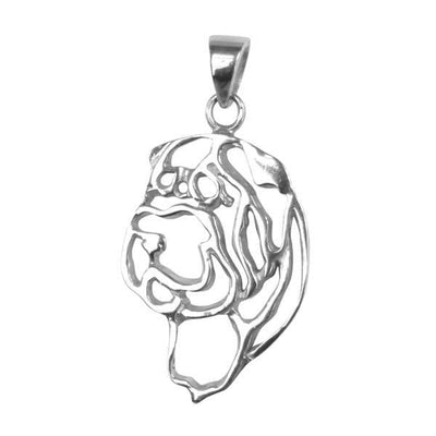 Chinese Shar Pei Sterling Silver Cut Out Pendants