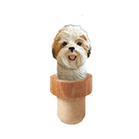 Shih Tzu Head Cork Bottle Stopper
