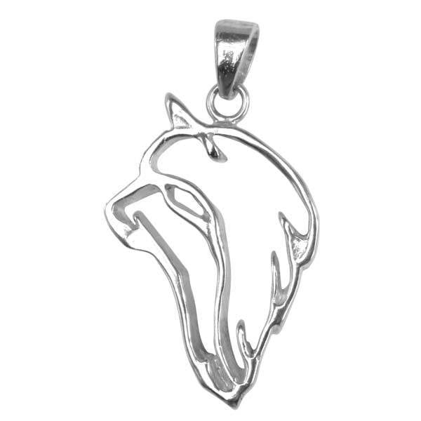 Silky Terrier  Sterling Silver Cut Out Pendants