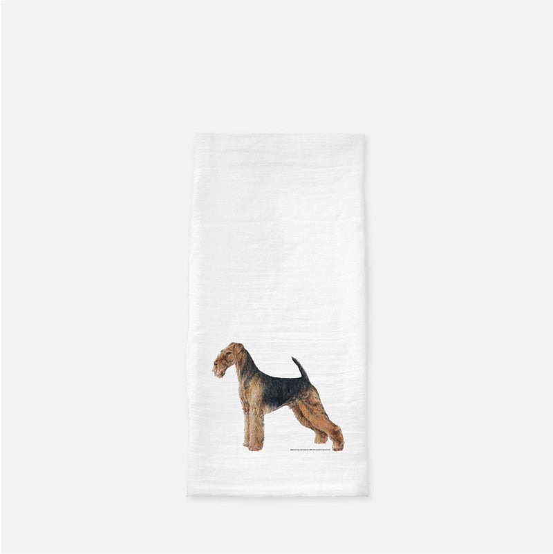 Airedale Terrier Tea Towel