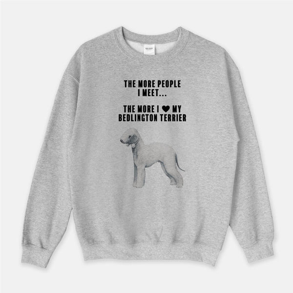 Bedlington Terrier Love Unisex Crew Neck Sweatshirt