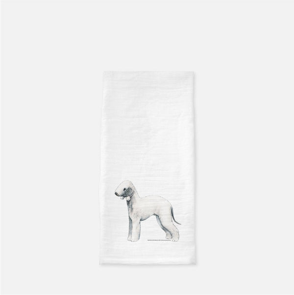 Bedlington Terrier Tea Towel