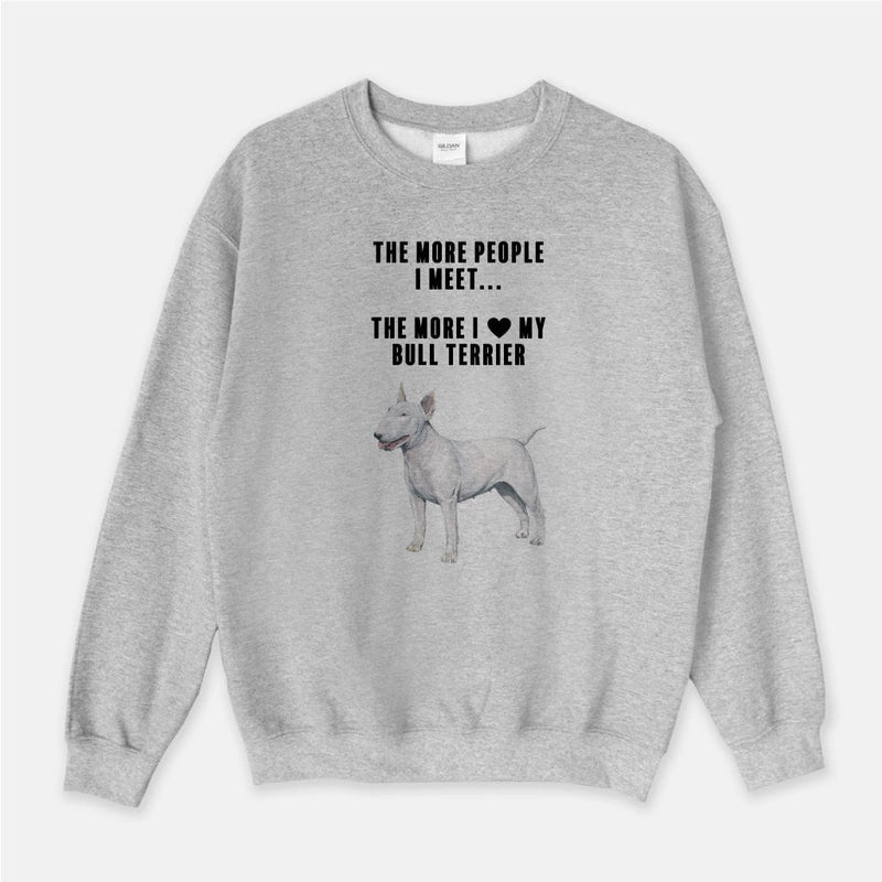 Bull Terrier Love Unisex Crew Neck Sweatshirt