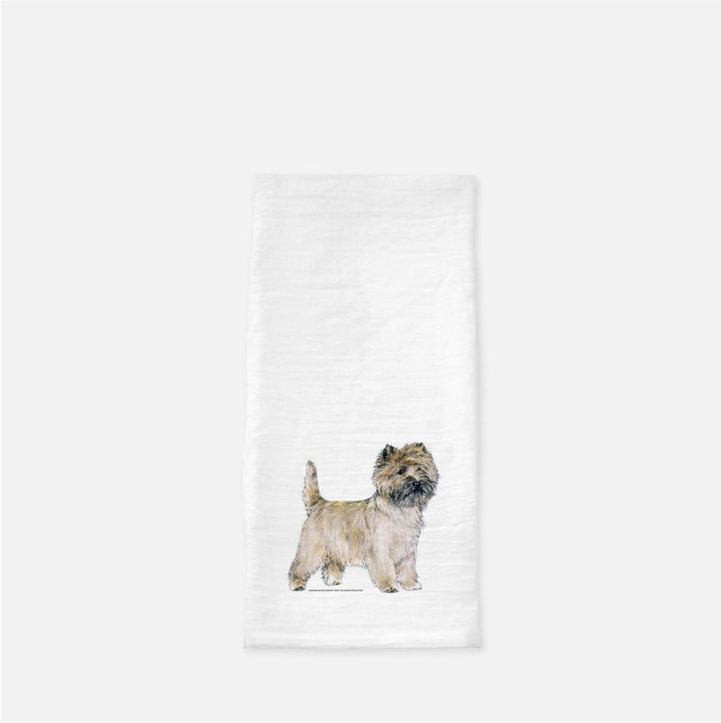 Cairn Terrier Tea Towel