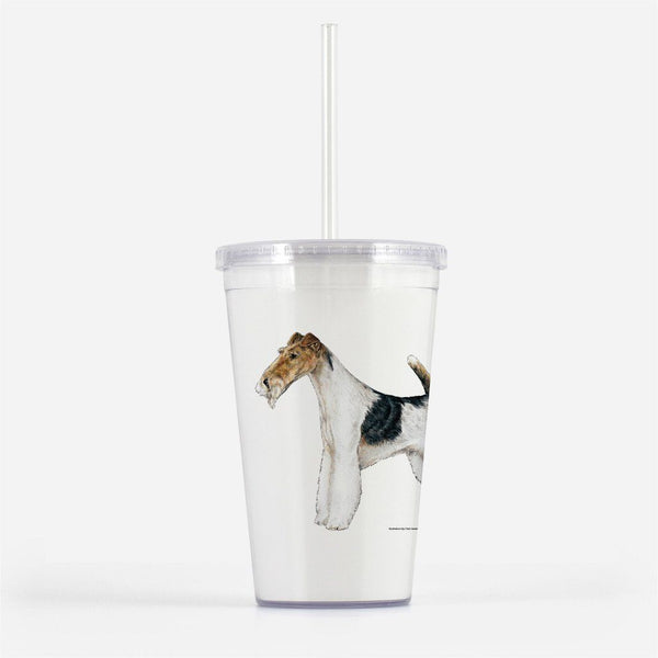 Wire Fox Terrier Beverage Tumbler