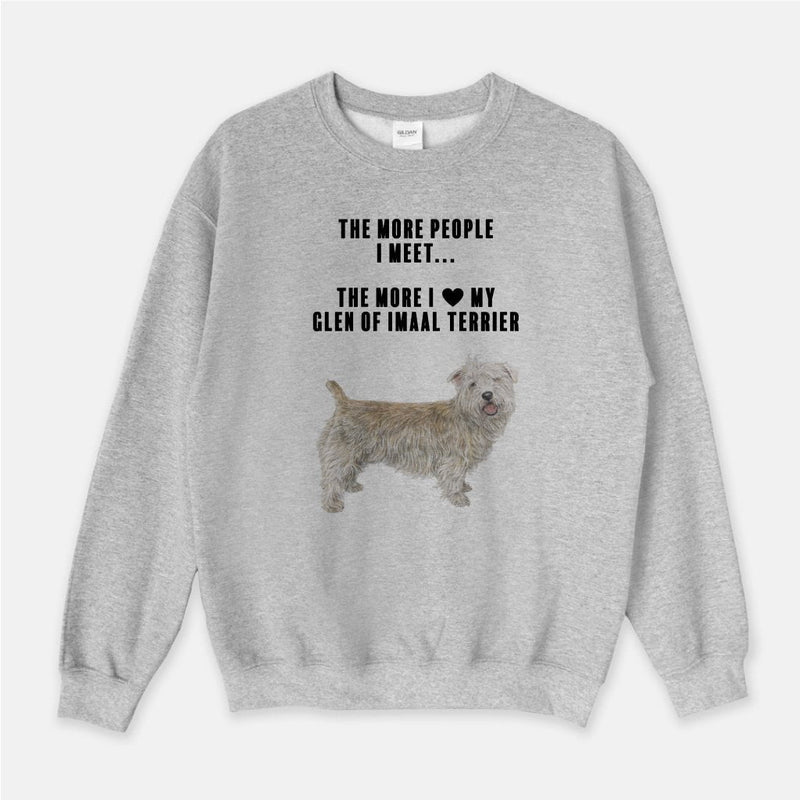 Glen of Imaal Terrier Love Unisex Crew Neck Sweatshirt