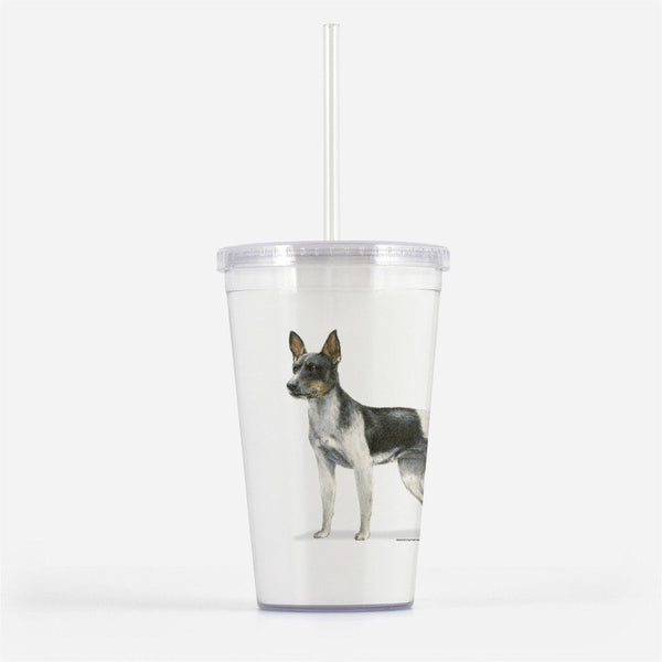 Rat Terrier Beverage Tumbler