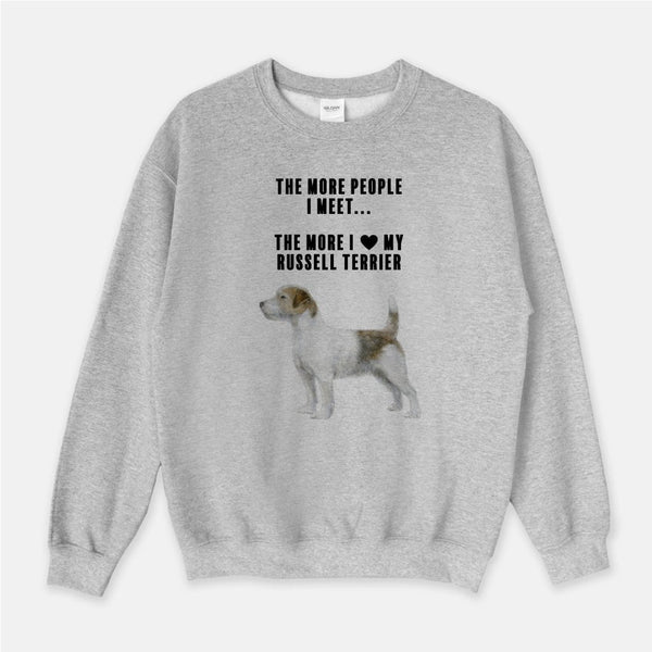 Russell Terrier Love Unisex Crew Neck Sweatshirt