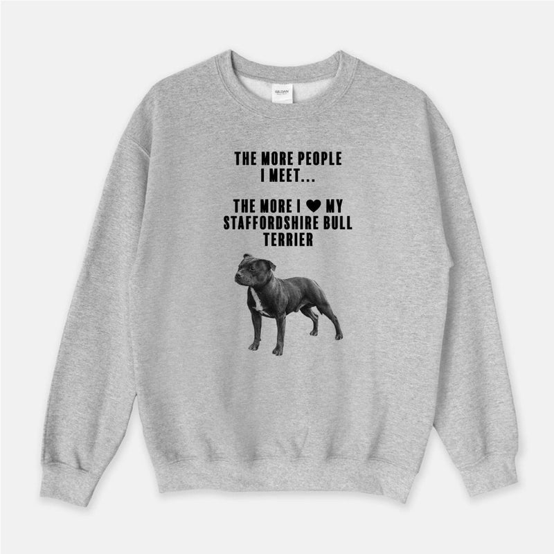 Staffordshire Bull Terrier Love Unisex Crew Neck Sweatshirt