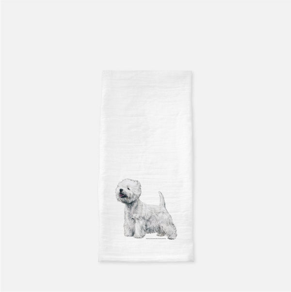 West Highland White Terrier Tea Towel