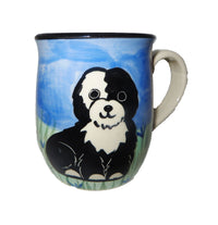 Tibetan Terrier Hand-Painted Ceramic Mug