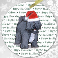 "Tibetan Terrier ""Happy Howlidays"" Ornament"