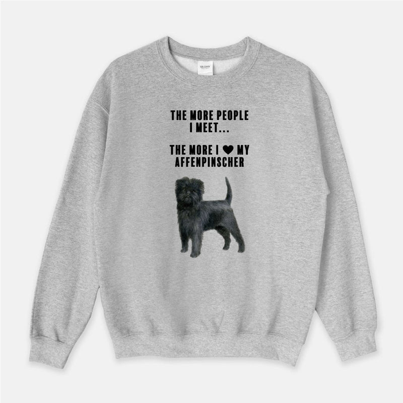 Affenpinscher Love Unisex Crew Neck Sweatshirt