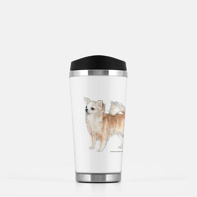 Chihuahua, Longhaired, Travel Mug