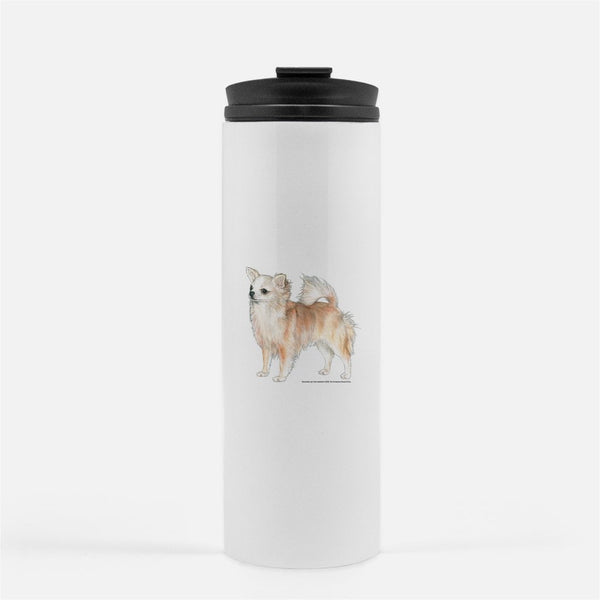 Chihuahua, Longhaired, Thermal Tumbler