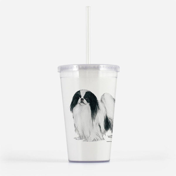 Japanese Chin Beverage Tumbler