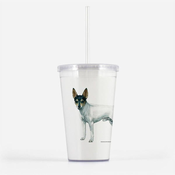 Toy Fox Terrier Beverage Tumbler
