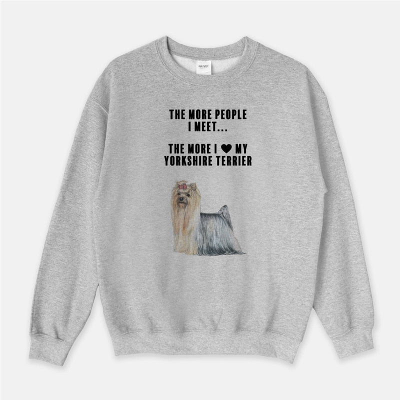 Yorkshire Terrier Love Unisex Crew Neck Sweatshirt